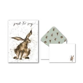 Wrendale Hare Pack of 8 Notecards